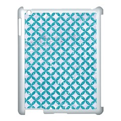 Circles3 White Marble & Turquoise Glitter (r) Apple Ipad 3/4 Case (white) by trendistuff