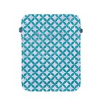 CIRCLES3 WHITE MARBLE & TURQUOISE GLITTER (R) Apple iPad 2/3/4 Protective Soft Cases Front