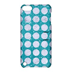 Circles1 White Marble & Turquoise Glitter Apple Ipod Touch 5 Hardshell Case With Stand by trendistuff