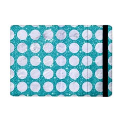 Circles1 White Marble & Turquoise Glitter Ipad Mini 2 Flip Cases by trendistuff