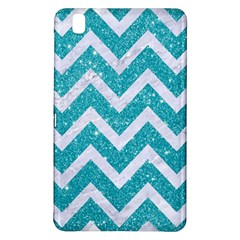 Chevron9 White Marble & Turquoise Glittere Glitter Samsung Galaxy Tab Pro 8 4 Hardshell Case by trendistuff