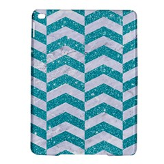 Chevron2 White Marble & Turquoise Glitter Ipad Air 2 Hardshell Cases by trendistuff