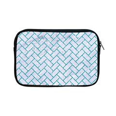 Brick2 White Marble & Turquoise Glitter (r) Apple Ipad Mini Zipper Cases by trendistuff