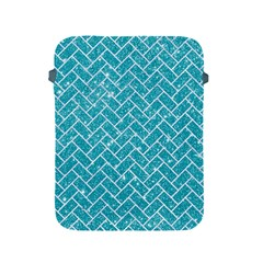 Brick2 White Marble & Turquoise Glitter Apple Ipad 2/3/4 Protective Soft Cases by trendistuff