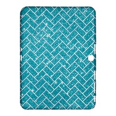 Brick2 White Marble & Turquoise Glitter Samsung Galaxy Tab 4 (10 1 ) Hardshell Case  by trendistuff