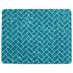 Brick2 White Marble & Turquoise Glitter Jigsaw Puzzle Photo Stand (rectangular) by trendistuff