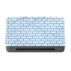 Brick1 White Marble & Turquoise Glitter (r) Memory Card Reader With Cf by trendistuff