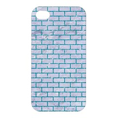 Brick1 White Marble & Turquoise Glitter (r) Apple Iphone 4/4s Hardshell Case by trendistuff