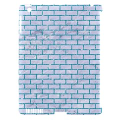 Brick1 White Marble & Turquoise Glitter (r) Apple Ipad 3/4 Hardshell Case (compatible With Smart Cover) by trendistuff