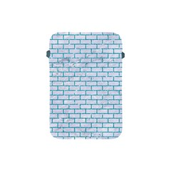 Brick1 White Marble & Turquoise Glitter (r) Apple Ipad Mini Protective Soft Cases by trendistuff