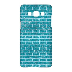 Brick1 White Marble & Turquoise Glitter Samsung Galaxy A5 Hardshell Case  by trendistuff