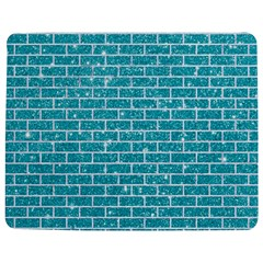 Brick1 White Marble & Turquoise Glitter Jigsaw Puzzle Photo Stand (rectangular) by trendistuff