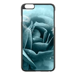 Beautiful Blue Roses With Water Drops Apple Iphone 6 Plus/6s Plus Black Enamel Case by FantasyWorld7