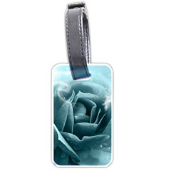 Beautiful Blue Roses With Water Drops Luggage Tags (two Sides) by FantasyWorld7