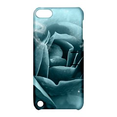 Beautiful Blue Roses With Water Drops Apple Ipod Touch 5 Hardshell Case With Stand by FantasyWorld7