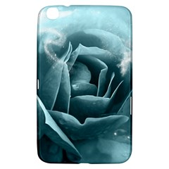 Beautiful Blue Roses With Water Drops Samsung Galaxy Tab 3 (8 ) T3100 Hardshell Case  by FantasyWorld7