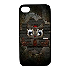 Wonderful Cute  Steampunk Owl Apple Iphone 4/4s Hardshell Case With Stand by FantasyWorld7