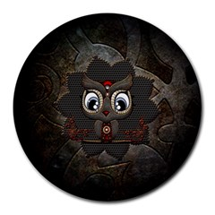 Wonderful Cute  Steampunk Owl Round Mousepads by FantasyWorld7