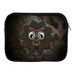 Wonderful Cute  Steampunk Owl Apple Ipad 2/3/4 Zipper Cases by FantasyWorld7