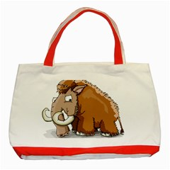 Mammoth Pre Historic Elephant  Classic Tote Bag (red) by ImagineWorld