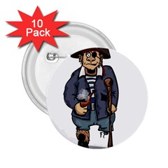 Cute Pirate 2 25  Buttons (10 Pack)  by ImagineWorld