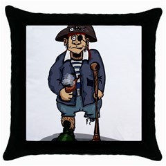 Cute Pirate Throw Pillow Case (black) by ImagineWorld