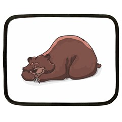 Cute Bear Sleeping Netbook Case (xl)  by ImagineWorld