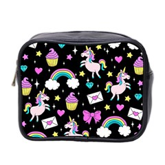 Cute Unicorn Pattern Mini Toiletries Bag 2 Side