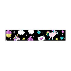 Cute Unicorn Pattern Flano Scarf (mini)