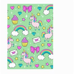 Cute Unicorn Pattern Large Garden Flag (two Sides) by Valentinaart