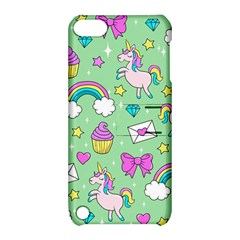 Cute Unicorn Pattern Apple Ipod Touch 5 Hardshell Case With Stand