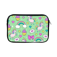 Cute Unicorn Pattern Apple Ipad Mini Zipper Cases by Valentinaart