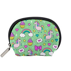 Cute Unicorn Pattern Accessory Pouches (small)  by Valentinaart