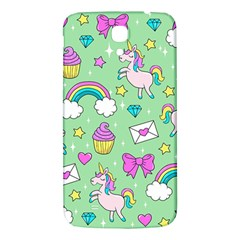 Cute Unicorn Pattern Samsung Galaxy Mega I9200 Hardshell Back Case