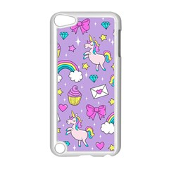 Cute Unicorn Pattern Apple Ipod Touch 5 Case (white) by Valentinaart
