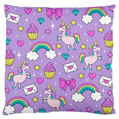 Cute Unicorn Pattern Standard Flano Cushion Case (one Side)