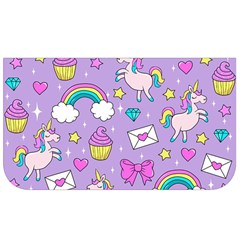 Cute Unicorn Pattern Lunch Bag by Valentinaart