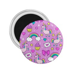 Cute Unicorn Pattern 2 25  Magnets