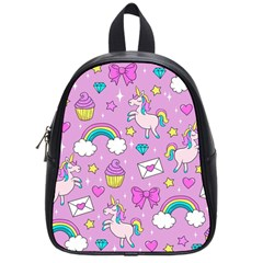 Cute Unicorn Pattern School Bag (small) by Valentinaart