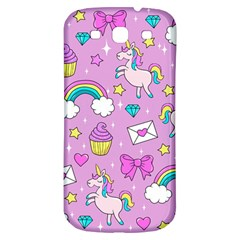 Cute Unicorn Pattern Samsung Galaxy S3 S Iii Classic Hardshell Back Case