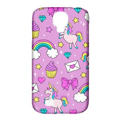 Cute Unicorn Pattern Samsung Galaxy S4 Classic Hardshell Case (pc+silicone)