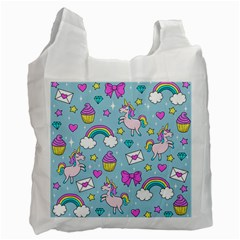 Cute Unicorn Pattern Recycle Bag (two Side)  by Valentinaart