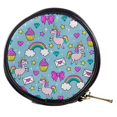 Cute Unicorn Pattern Mini Makeup Bags by Valentinaart