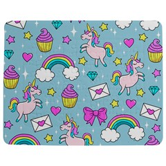Cute Unicorn Pattern Jigsaw Puzzle Photo Stand (rectangular) by Valentinaart