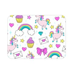 Cute Unicorn Pattern Double Sided Flano Blanket (mini)  by Valentinaart