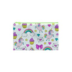 Cute Unicorn Pattern Cosmetic Bag (xs) by Valentinaart