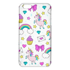 Cute Unicorn Pattern Iphone 6 Plus/6s Plus Tpu Case by Valentinaart
