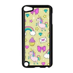 Cute Unicorn Pattern Apple Ipod Touch 5 Case (black)