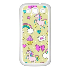 Cute Unicorn Pattern Samsung Galaxy S3 Back Case (white)