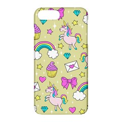 Cute Unicorn Pattern Apple Iphone 7 Plus Hardshell Case by Valentinaart